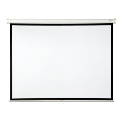 Matte White 100 diagonal Manual Projection Screen