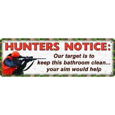 Hunters Notice Tin Sign Vintage advertisement 1412