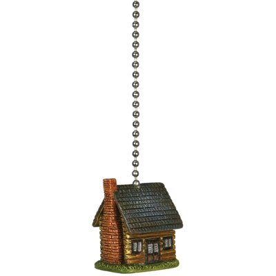 Log Cabin Fan Pull Chain