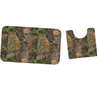 Fall Transition Camo Mat and Toilet Mat Set