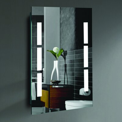 "Sally Led Lighted Mirror Size: 24"" H X 20"" W X 2"" D"