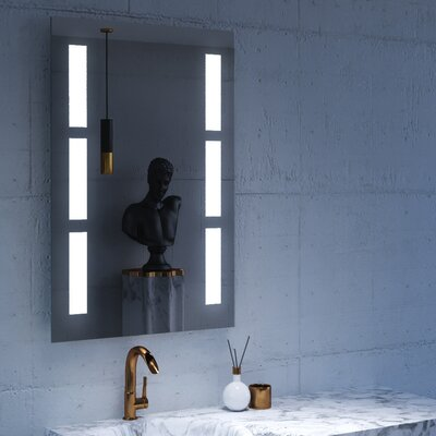 "Sally LED Lighted Bathroom/Vanity Mirror Size: 36"" H x 24"" W x 2"" D"