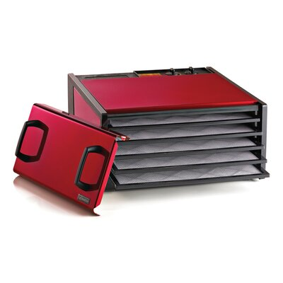 5 Tray Dehydrator with Timer Color: Cherry