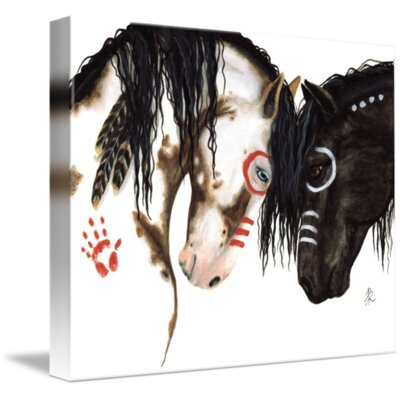 'The Greeting - Majestic Horses' Graphic Art Print on Wrapped Canvas