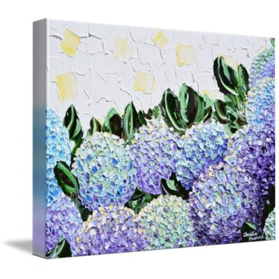 'Hydrangea Garden' Acrylic Painting Print on Wrapped Canvas Size: 11