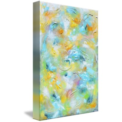 'Blissful Journey' Acrylic Painting Print on Wrapped Canvas Size: 16