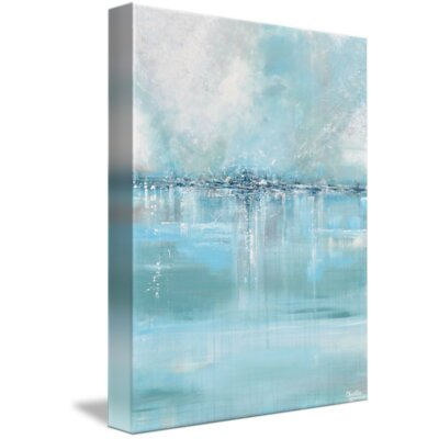 'Seaglass' Acrylic Painting Print on Wrapped Canvas Size: 15