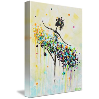 'The Dancer' Acrylic Painting Print on Wrapped Canvas Size: 15