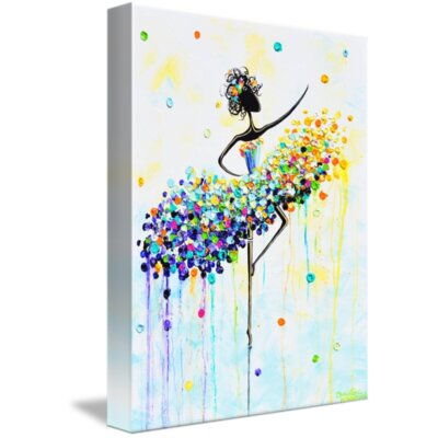 'The Dancer's Joy' Acrylic Painting Print on Wrapped Canvas Size: 15
