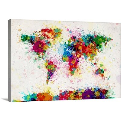 World Maps by Michael Tompsett Gallery Graphic Art on Wrapped Canvas Size: 20