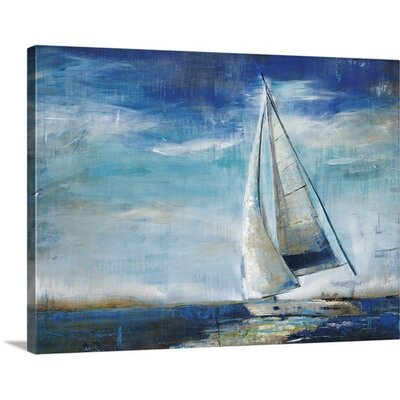 Sail Away by Liz Jardine Painting Print on Wrapped Canvas