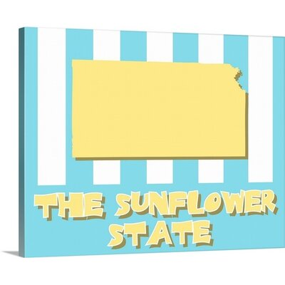 Kansas State Nickname Wall Art by Kate Lillyson Graphic Art on Wrapped Canvas Size: 24