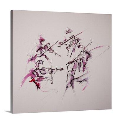 'Quartet' by Marc Allante Painting Print on Canvas Size: 34