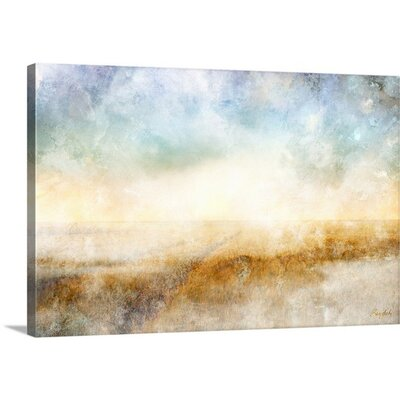 Peaceful Horizon by Roozbeh Graphic Art on Canvas