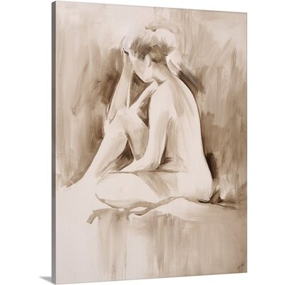 "'Figure Study II' by Sydney Edmunds Painting Print on Canvas Size: 16"" H x 12"" W x 0.75"" D 2218830_29_12x16_none"