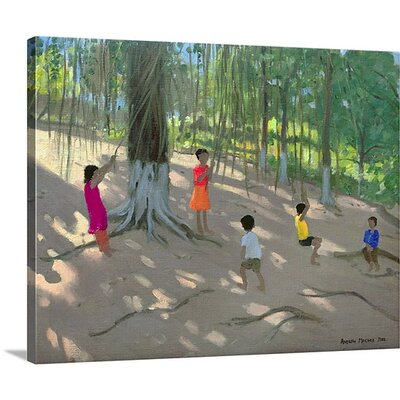 'Tree Swing Elephant Island Bombay' by Andrew Macara Painting on Canvas Size: 16 H x 20 W x 1.5 D