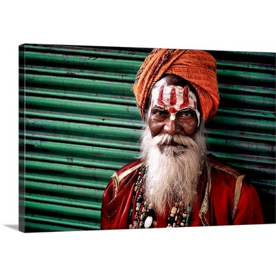 Indian Man with Tilaka by Salvatore Gebbia Photographic Print on Canvas 2350734_1_24x16_none
