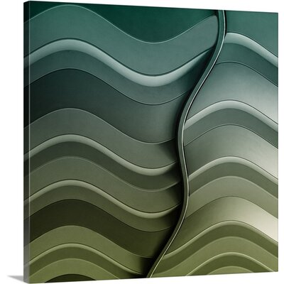 Broken Waves by Luc Vangindertael Graphic Art on Canvas Size: 24