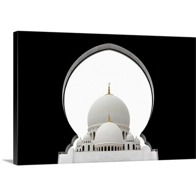 Sheikh Zayed Mosque Dome by Sedef Isik Graphic Art on Canvas
