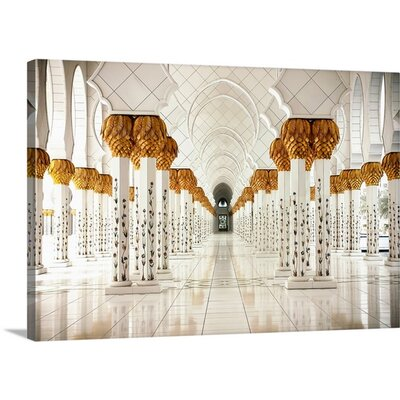 Sheikh Zayed Mosque Abu Dhabi by Sedef Isik Photographic Print on Canvas