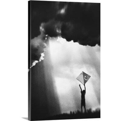 "'Dreams Play a Kite' by Jay Satriani Photographic Print on Canvas Size: 24"" H x 16"" W x 1.5"" D"
