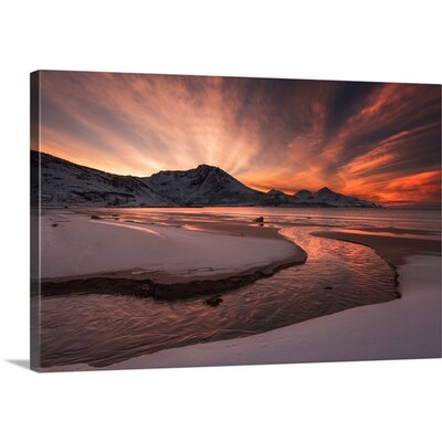 Golden Sunset by Jaroslav Zakravsky Photographic Print on Canvas Size: 16