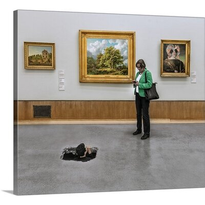 Meeting In the Museum by Herbert A. Franke Photographic Print on Canvas Size: 32
