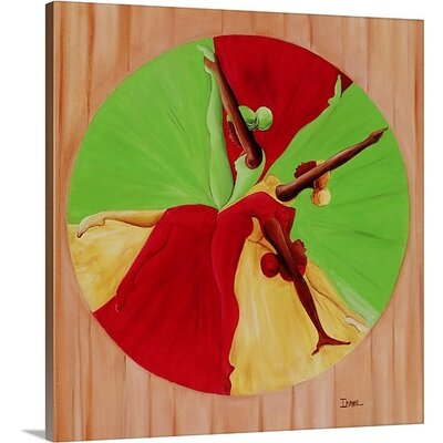 "'Dance Circle, 2002' by Ikahl Beckford Graphic Art on Canvas Size: 24"" H x 23"" W x 1.5"" D 1049916_1_23x24_none"
