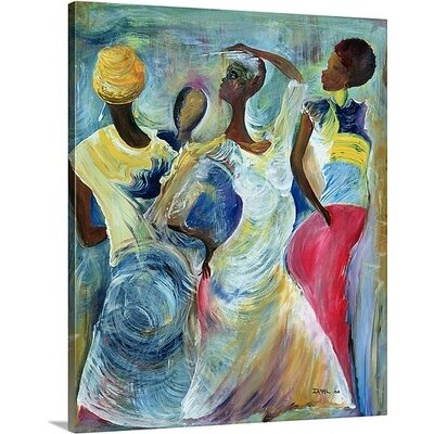 'Sister Act, 2002' by Ikahl Beckford Painting Print on Canvas 1048641_1_20x24_none