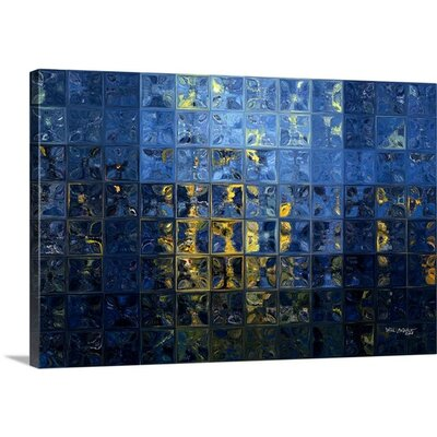 'Mediterranean Blue. Tiles Abstract Art' by Mark Lawrence Graphic Art on Canvas Size: 16