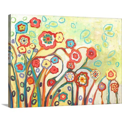 'The Garden of My Dreams' by Jennifer Lommers Painting Print on Canvas Size: 36