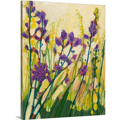 'Camas in Bloom' by Jennifer Lommers Painting Print on Canvas Size: 20