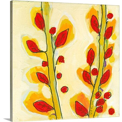 'Leaf Study No 3' by Jennifer Lommers Painting Print on Canvas Size: 20