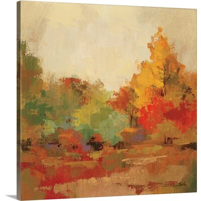 'Fall Forest II' by Silvia Vassileva Painting Print on Canvas Size: 16