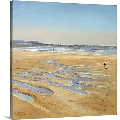'Beach Strollers' by Timothy Easton Painting Print on Canvas 1048265_29_8x8_none