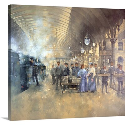 'York Railway Station' by Peter Miller Painting Print on Canvas Size: 32