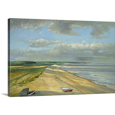 'Shadowed Crescent, Dunwich' by Timothy Easton Painting Print on Canvas Size: 24