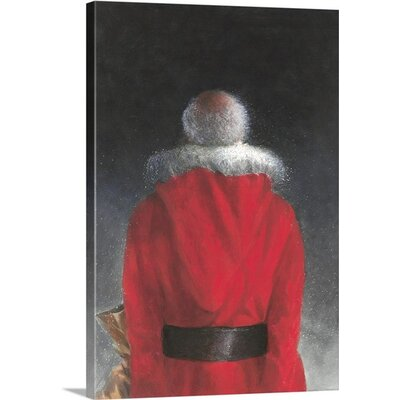 'Man in Red Coat, 2004' by Lincoln Seligman Painting Print on Canvas 2360524_1_17x24_none