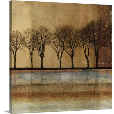 In a Row by PI Studio Painting Print on Wrapped Canvas Size: 48