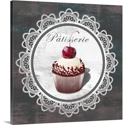 Patisserie Mini by David Fischer Vintage Advertisement on Wrapped Canvas Size: 20
