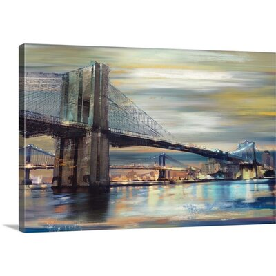 """Twilight Crossing by Drako Fontaine Painting Print on Wrapped Canvas Size: 16"""" H x 24"""" W x 1.5"""" D 2371810_1_24x16_none"""