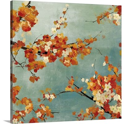 Blossoms II by Asia Jensen Painting Print on Wrapped Canvas Size: 20