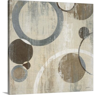 'Orlando Mod Circles I' by Liz Jardine Painting Print on Canvas 2225320_1_16x16_none