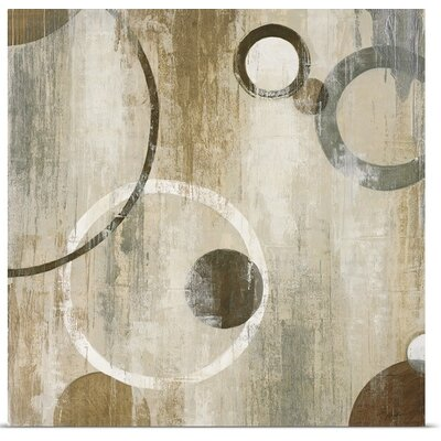 'Orlando Mod Circles II' by Liz Jardine Painting Print on Canvas 2225321_1_16x16_none