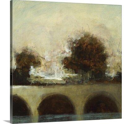 'Foggy Bridge I' by Randy Hibberd Painting Print on Canvas Size: 20
