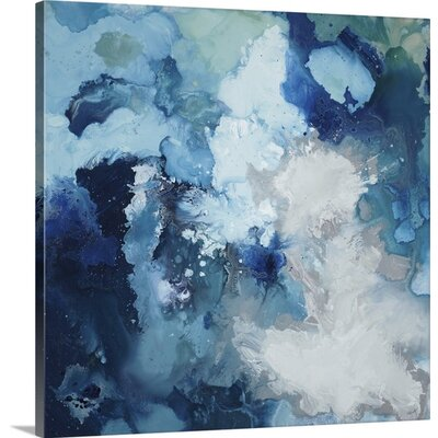 "'Blu Flo' by Randy Hibberd Painting Print Format: Canvas, Size: 12"" H x 12"" W x 0.75"" D 2348156_29_12x12_none"