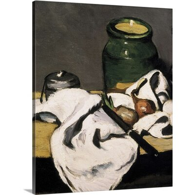 'Still Life with a Kettle' by Paul Cezanne Painting Print on Wrapped Canvas 1992060_29_8x10_none