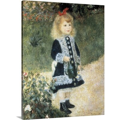 "'A Girl with a Watering Can' by Pierre-Auguste Renoir Painting Print on Wrapped Canvas Size: 16"" H x 12"" W x 0.75"" D"
