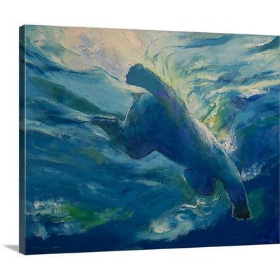 'Polar Bear Swim' by Michael Creese Wall Art on Wrapped Canvas 1985114_1_20x16_none