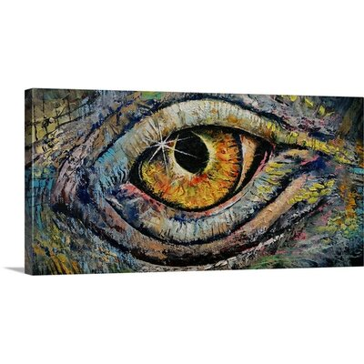 "'Awakened Dragon' by Michael Creese Painting Print on Wrapped Canvas Size: 12"" H x 24"" W x 1.5"" D 2386931_1_24x12_none"